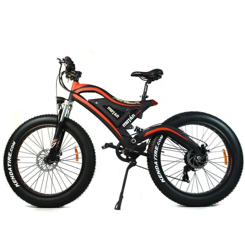 AddMotor 500W Motan M-850 Fat Tire black bicycle side