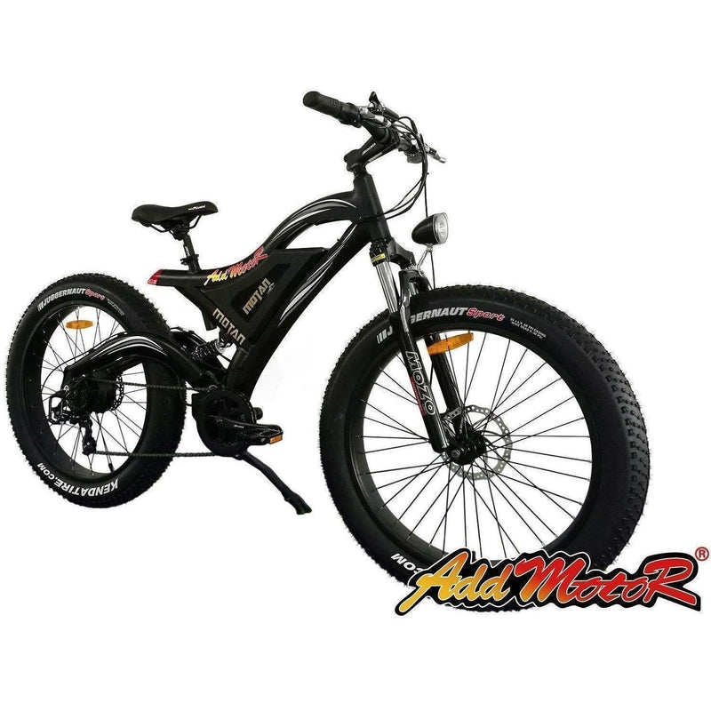 AddMotor 500W Motan M-850 Fat Tire black bicycle front