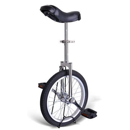 Gorilla 16 Inch Wheel Unicycle - chrome side