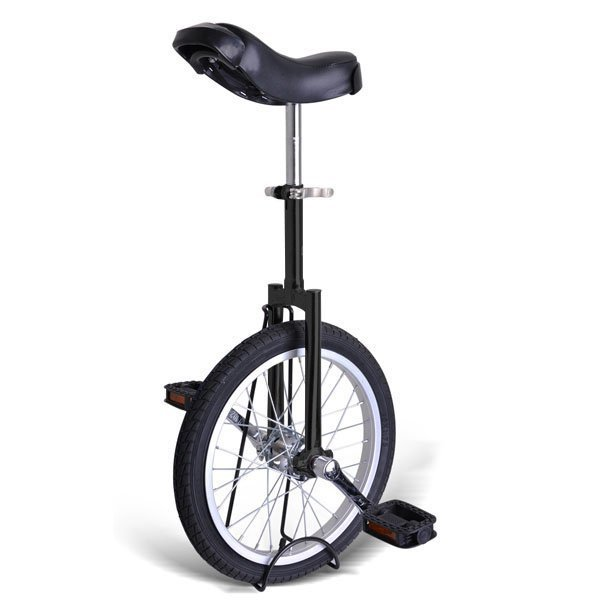Gorilla 16 Inch Wheel Unicycle - black side