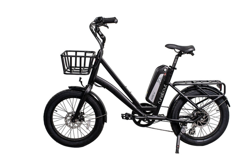 Civi 500W Runabout Compact black bicycle side