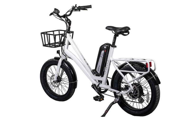 Civi 500W Runabout Compact white bicycle rear