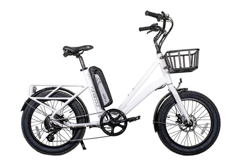 Civi 500W Runabout Compact white bicycle side