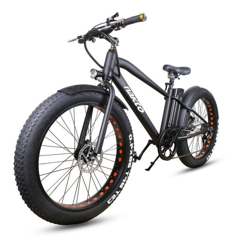 Nakto 300W Cruise Fat Tire Black - black bicycle front