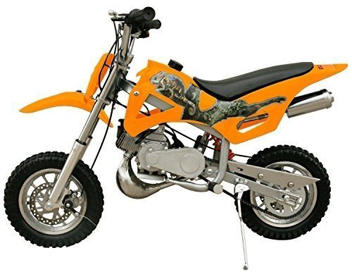49cc 50cc 2-Stroke Gas Motorized Mini Dirt Pit Bike - orange side