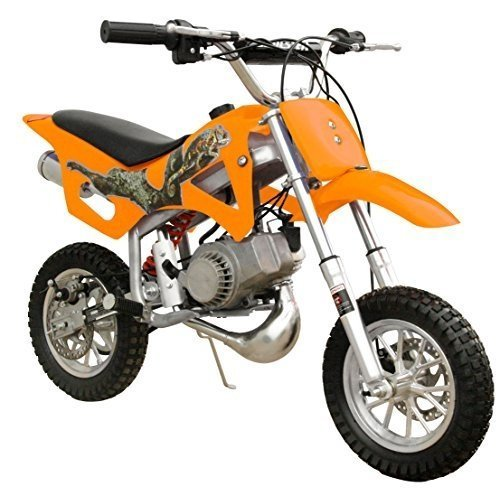 49cc 50cc 2-Stroke Gas Motorized Mini Dirt Pit Bike - orange front