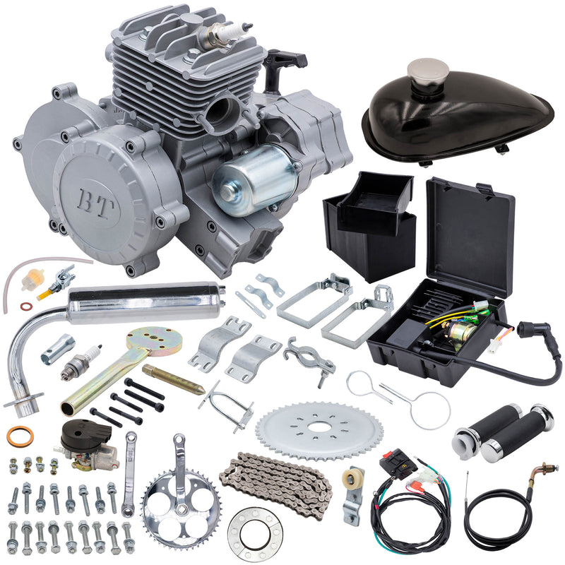 66/80cc BBR Tuning Bullet Train Electric Start Engine Kit - Silver - Engine Kit and Parts