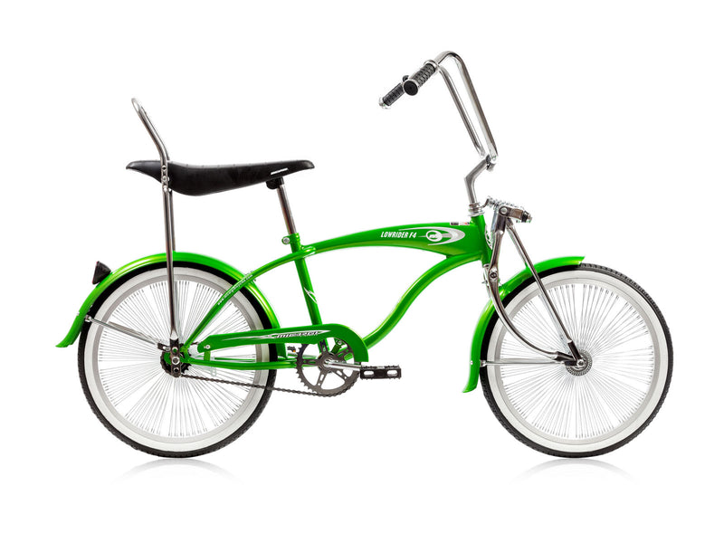 20'' Micargi Lowrider F4 green - side of bicycle