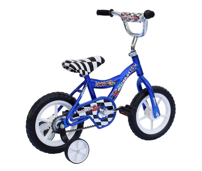 12'' Micargi Boys MBR12Y - blue - rear of bicycle