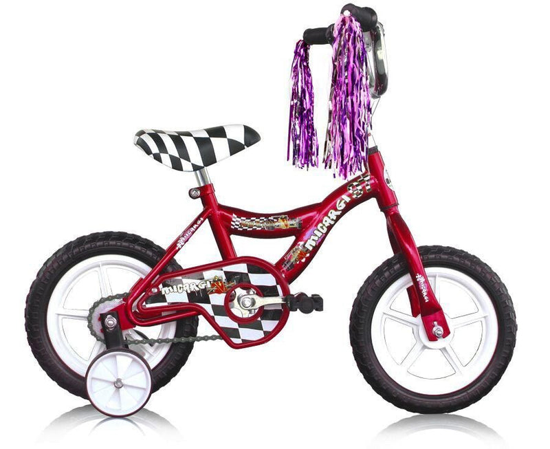 12'' Micargi Boys MBR12Y - red - side of bicycle