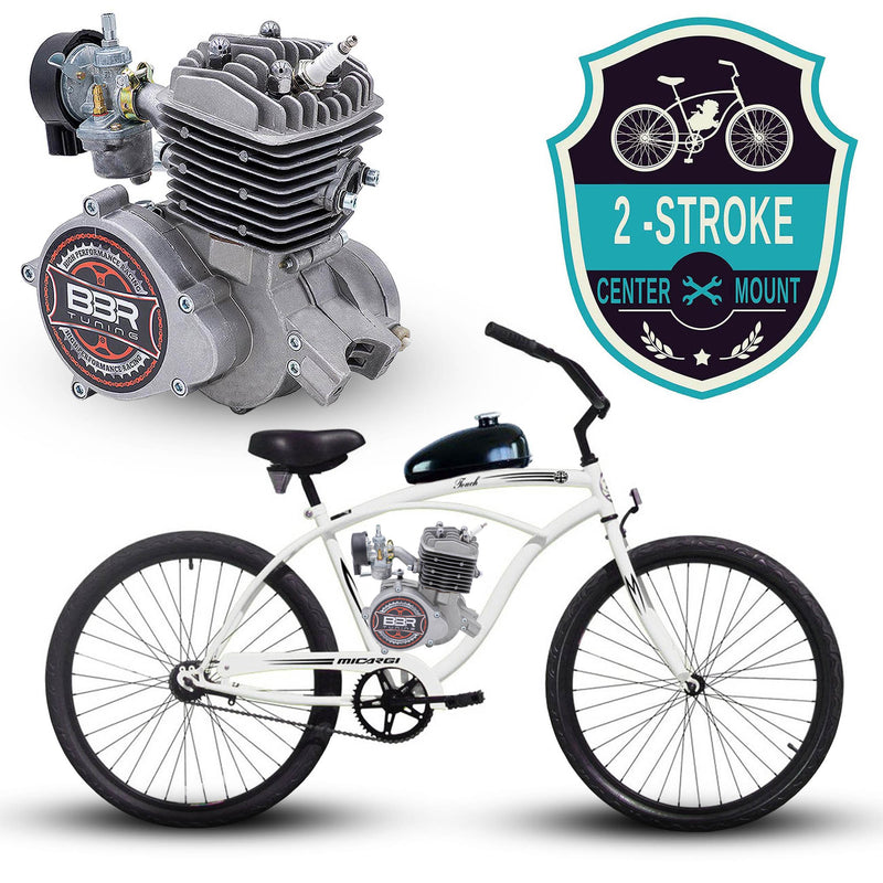 Micargi 26 Inch Men's Touch Beach Cruiser + BBR Tuning 2-Stroke Engine
