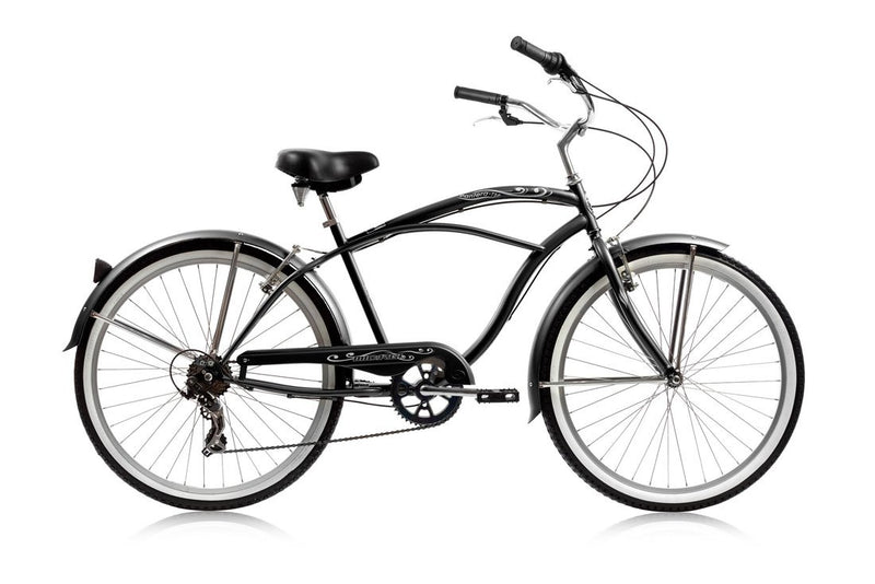 26'' Micargi Mens Pantera 7SP - black - side of bicycle