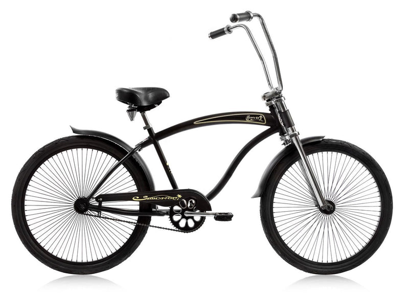 26'' Micargi Mens Rover GT - black - side of bicycle