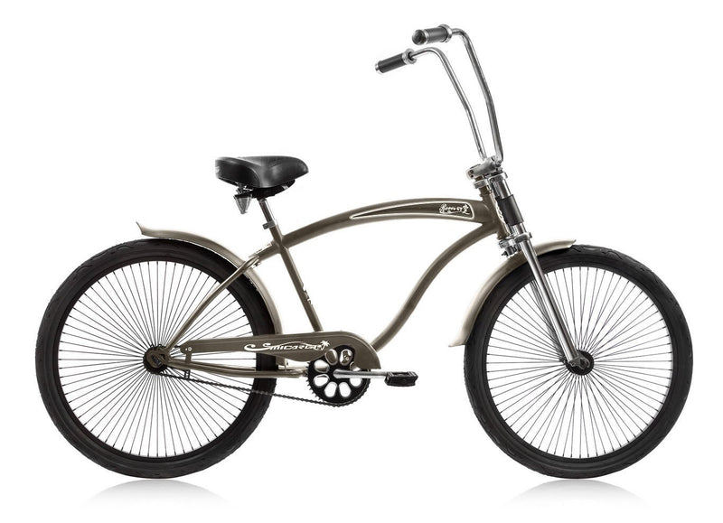 26'' Micargi Mens Rover GT - grey - side of bicycle
