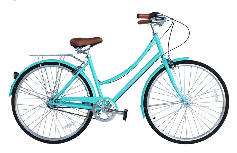 "26"" Micargi Women's Roasca City Bike - teal - side of bicycle"