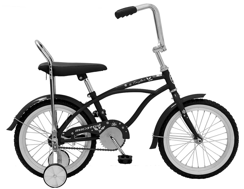 "16"" Micargi Boy's Taylor - black - side of bicycle"