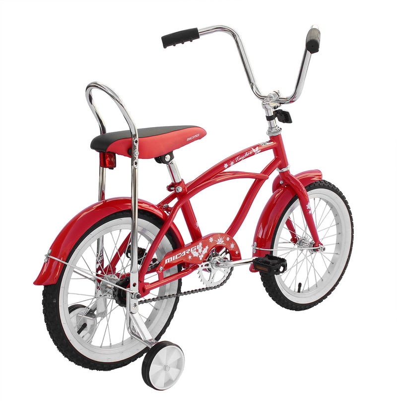 "16"" Micargi Boy's Taylor - red - rear of bicycle"