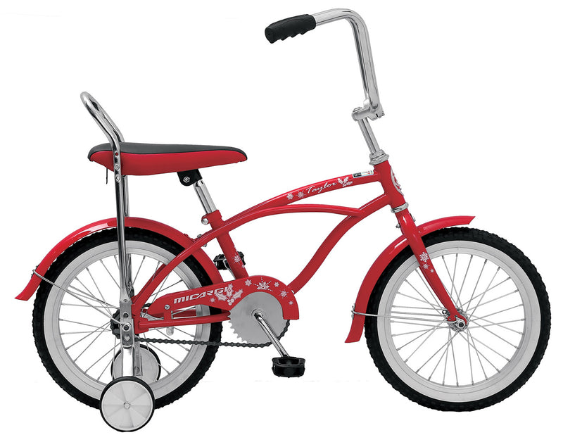 "16"" Micargi Boy's Taylor - red - side of bicycle"