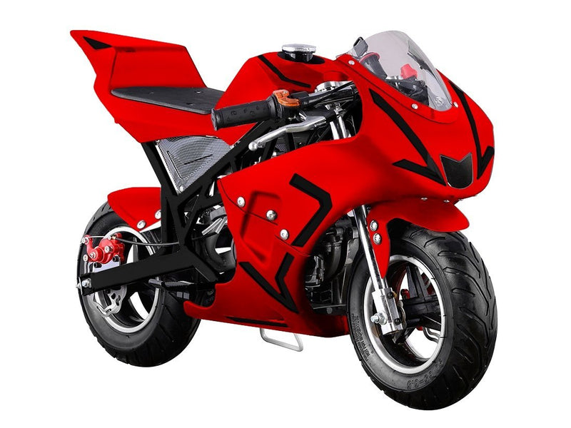 40cc 4 Stroke Gas Powered Mini Superbike - red front