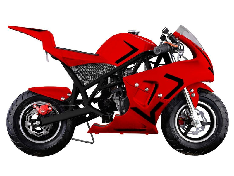 40cc 4 Stroke Gas Powered Mini Superbike - red side