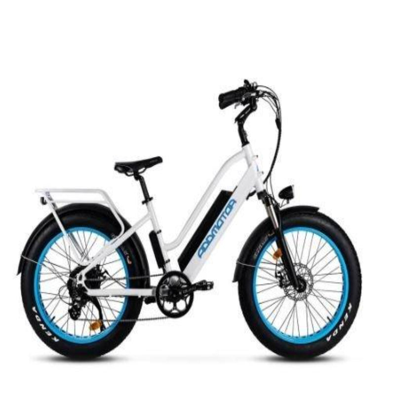 AddMotor 750W Motan M-430 Step-Thru Electric Fat Tire Bike - side of bicycle