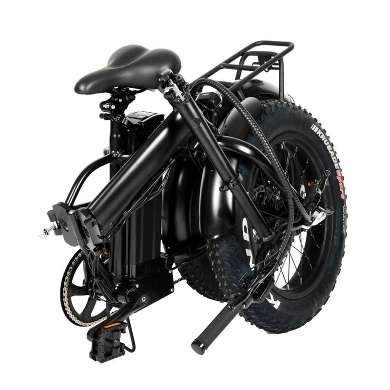 "Electric Bike EUNORAU 48V500W 12.5Ah 20"" Foldable Fat Tire Step Over Electric Bike For Men Folding Front View"