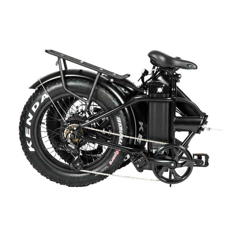 "Electric Bike EUNORAU 48V500W 12.5Ah 20"" Foldable Fat Tire Step Over Electric Bike For Men Folding Side View"