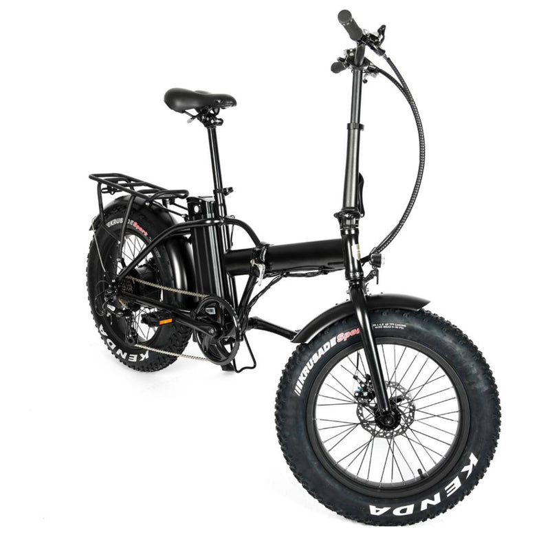 "Electric Bike EUNORAU 48V500W 12.5Ah 20"" Foldable Fat Tire Step Over Electric Bike For Men Front"