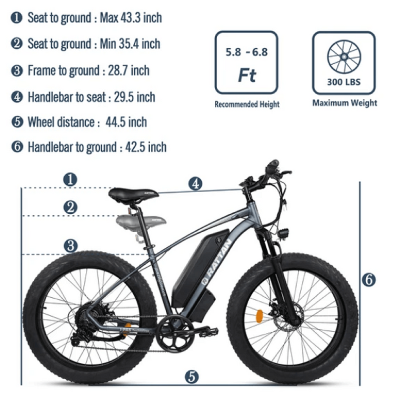 Electric Bike Rattan Pathfinder Specs