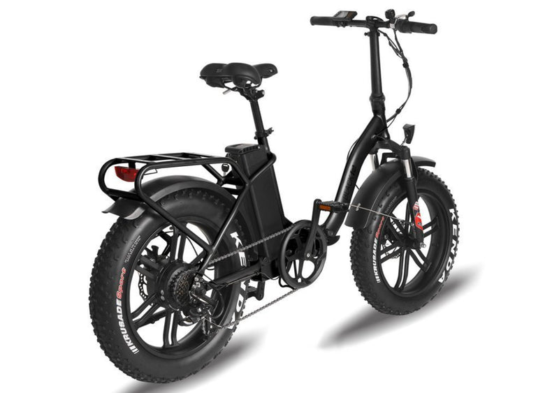 T4B 350W Fat Black 2-Way Fat Tire Folding rear right side