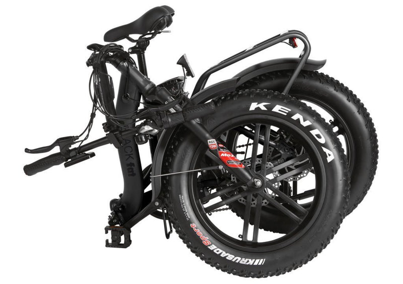 T4B 350W Fat Black 2-Way Fat Tire Folding bicycle folded