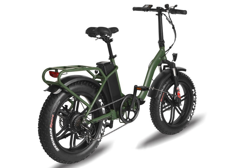 T4B 350W Fat Black 2-Way Fat Tire Folding rear