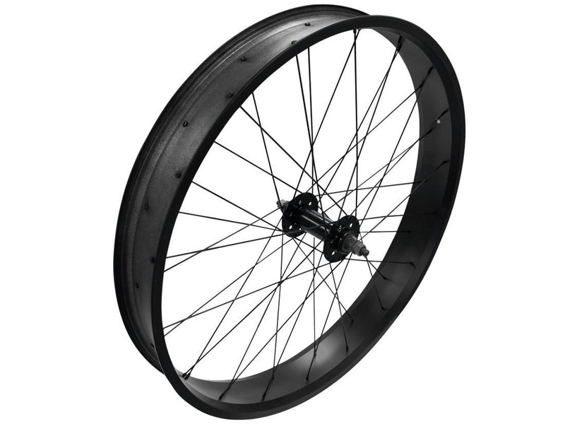 Black wide rims - front angle