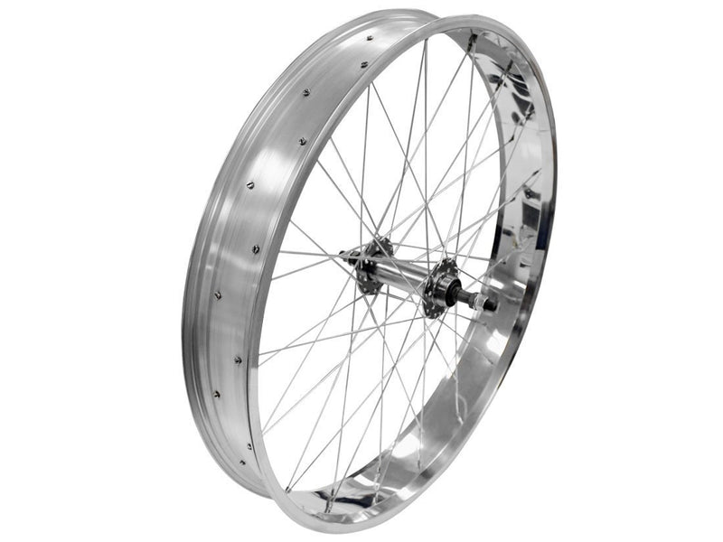 wide rims silver - rear wheel