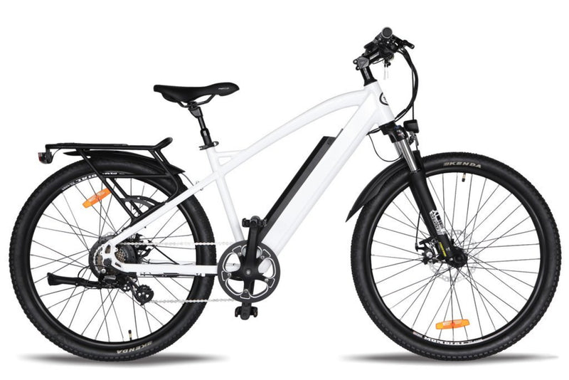T4B 350W Hiko Enduro Hard Tail City side of white bicycle