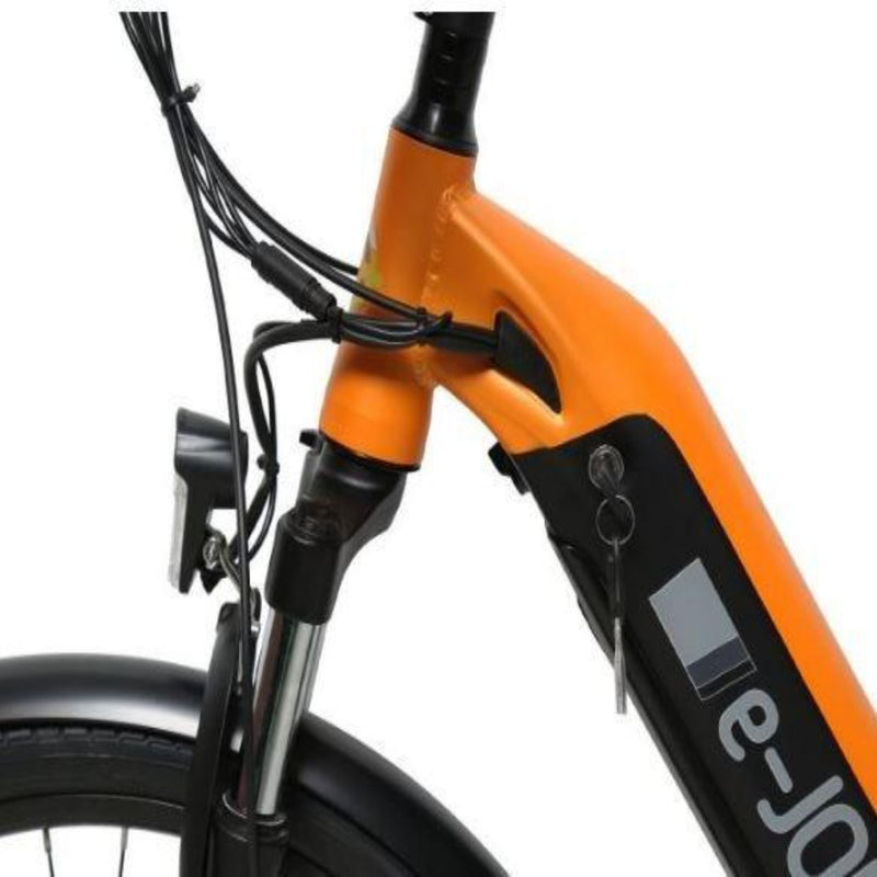 E-Joe 750W JADE Comfort Cruiser orange close up