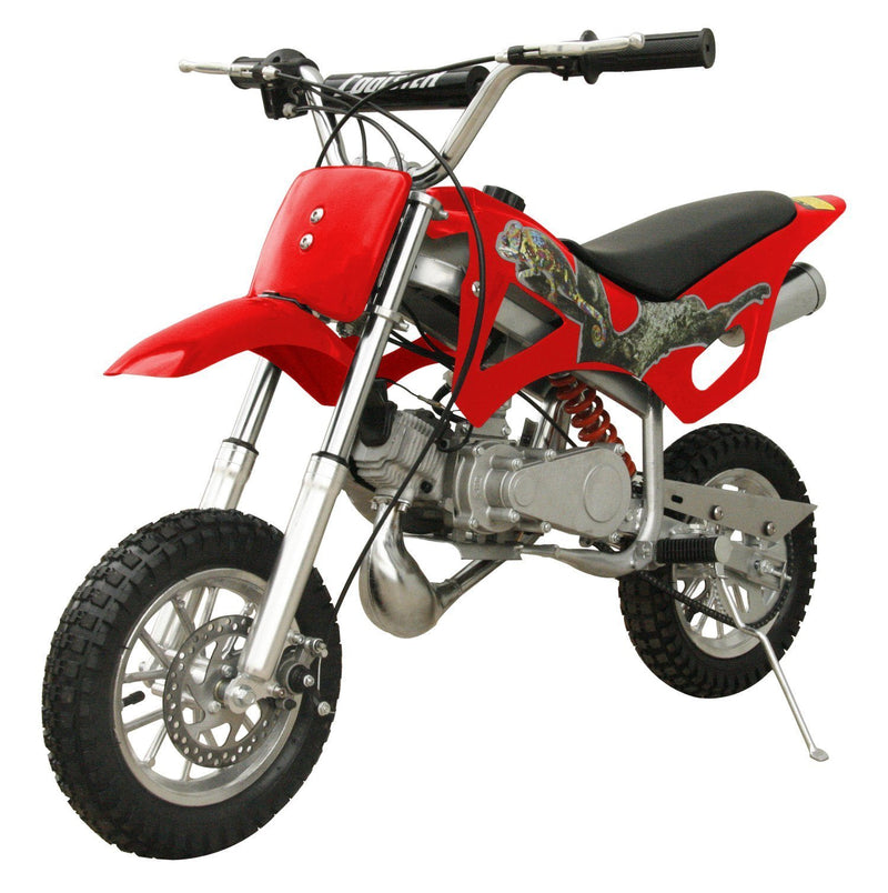49cc 50cc 2-Stroke Gas Motorized Mini Dirt Pit Bike - red front