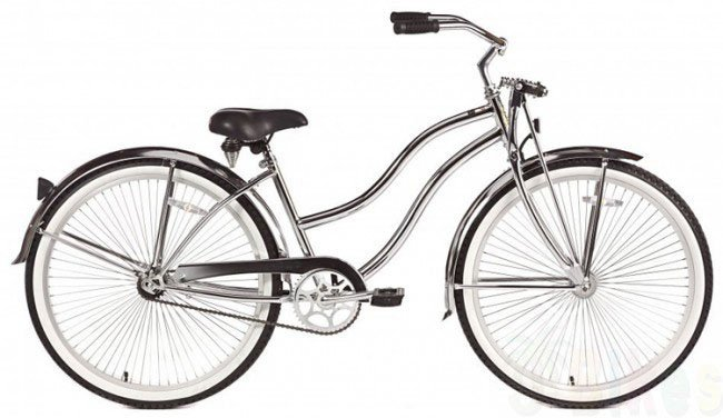 26'' Micargi Men's Cougar GTS chrome - side of bicycle