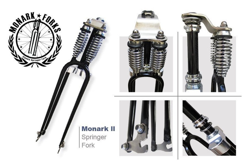 Monark Type 2 Dual Springer Motorized Bicycle Fork - fork diagram