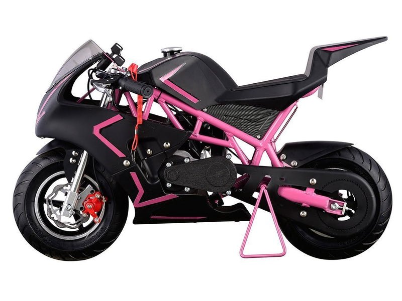 40cc 4 Stroke Gas Powered Mini Superbike - pink side