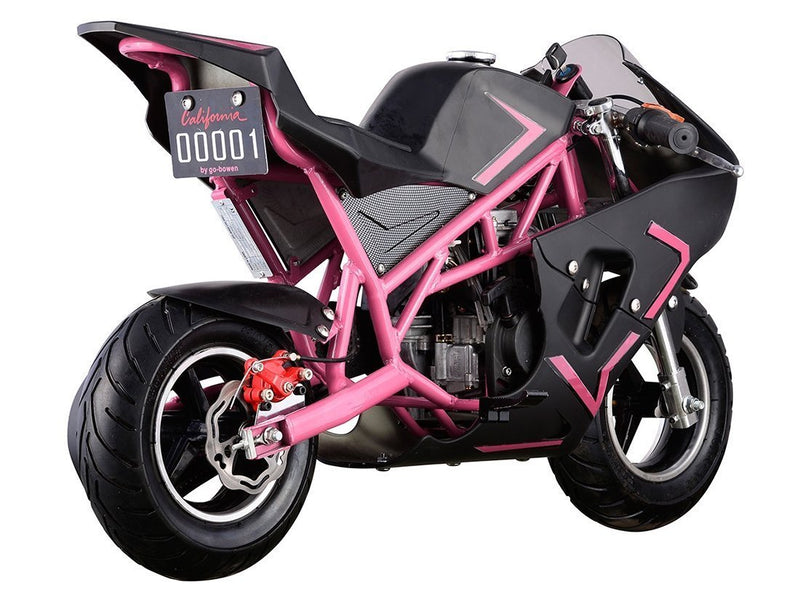 40cc 4 Stroke Gas Powered Mini Superbike - pink rear