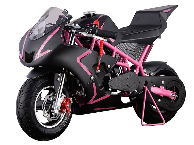 40cc 4 Stroke Gas Powered Mini Superbike - pink front