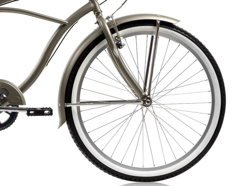 26'' Micargi Mens Pantera 7SP - grey - front wheel