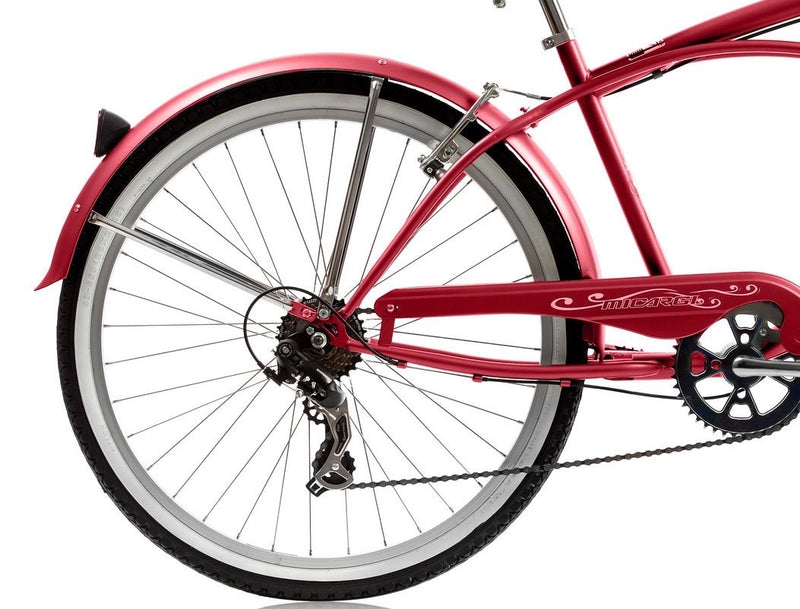 26'' Micargi Mens Pantera 7SP - red - rear wheel