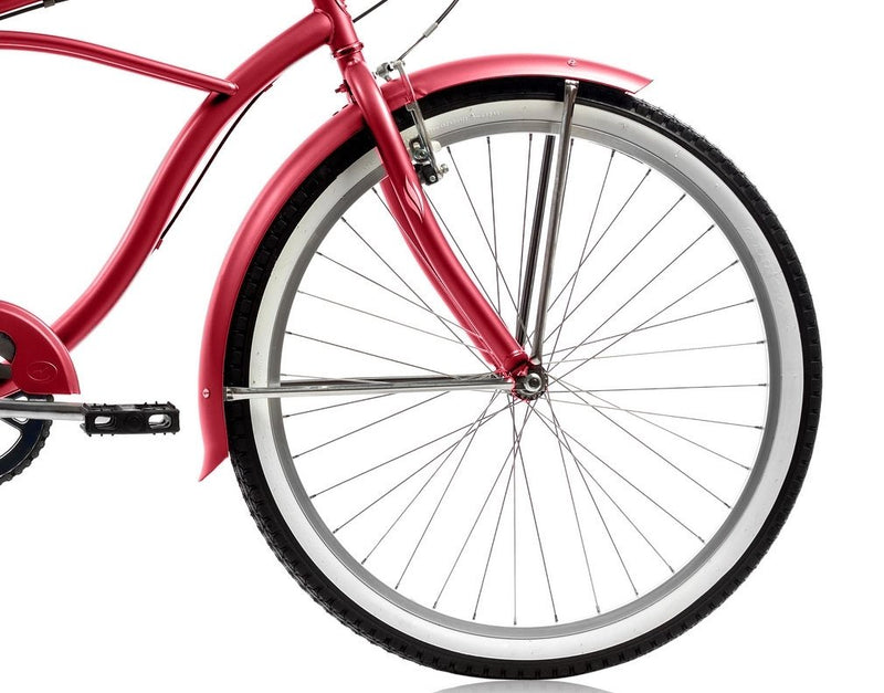 26'' Micargi Mens Pantera 7SP - red - front wheel