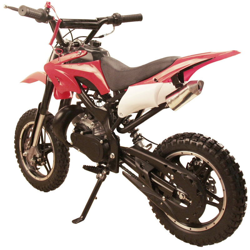 49cc 50cc High Performance 2-Stroke Gas Motorized Mini Dirt Pit Bike - red rear