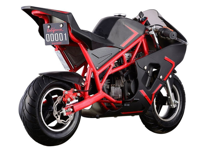 40cc 4 Stroke Gas Powered Mini Superbike - red rear