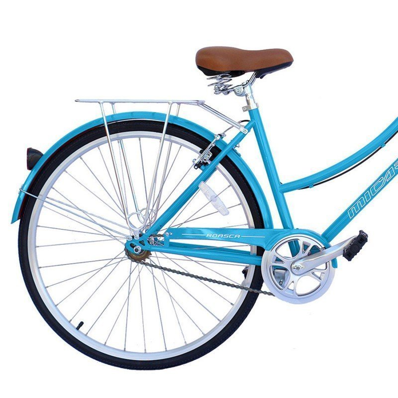 "26"" Micargi Women's Roasca City Bike - blue - rear wheel"