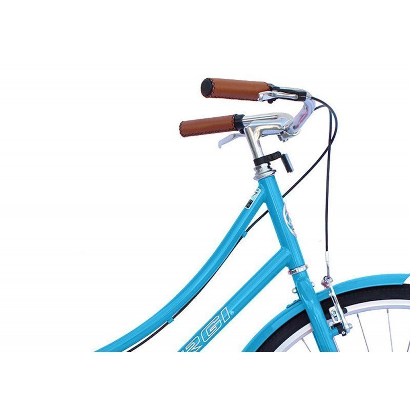 "26"" Micargi Women's Roasca City Bike - blue - handlebar"