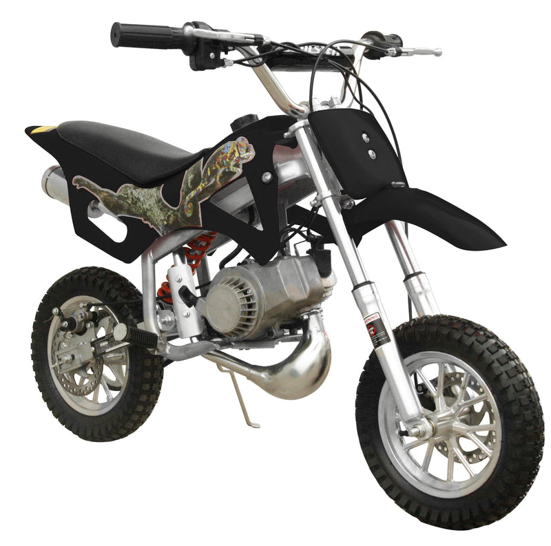 49cc 50cc 2-Stroke Gas Motorized Mini Dirt Pit Bike - black front